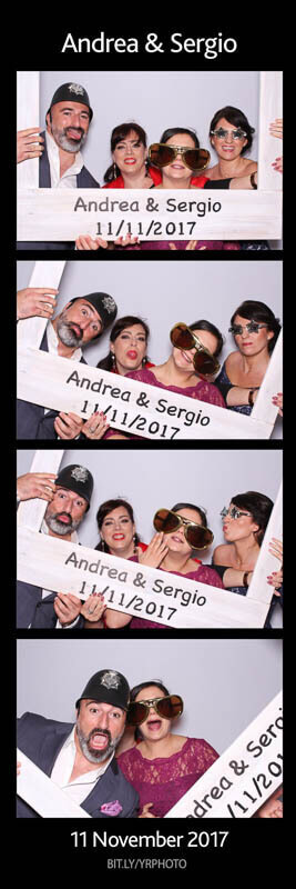 Snapshot photo booth wedding photo strip