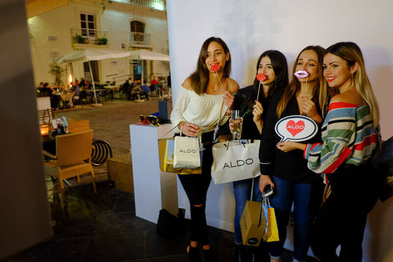 Loving the Snapshot Photobooth at the ALDO store opening