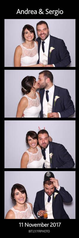 Bride and groom photo booth strip