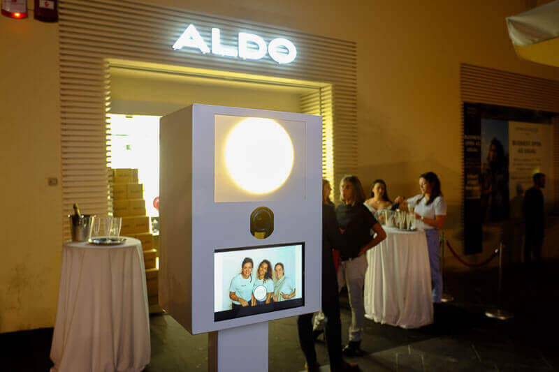 Snapshot Photobooth at the ALDO store opening