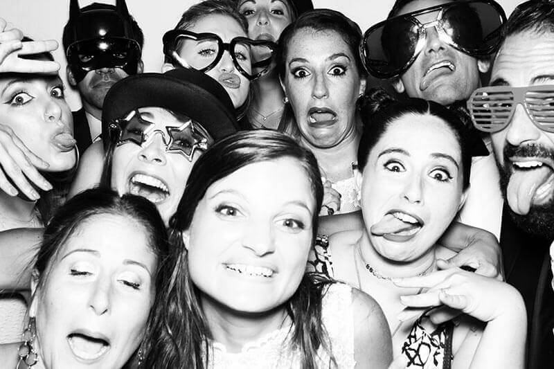 Photo booth black and white