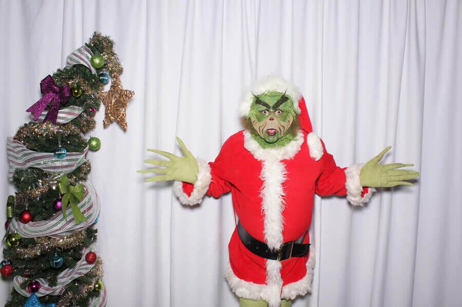 Grinch in santa costume