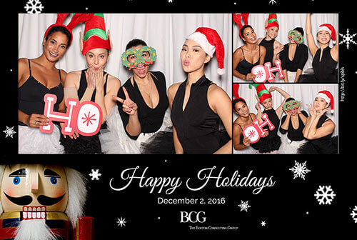 holiday photo booth photo