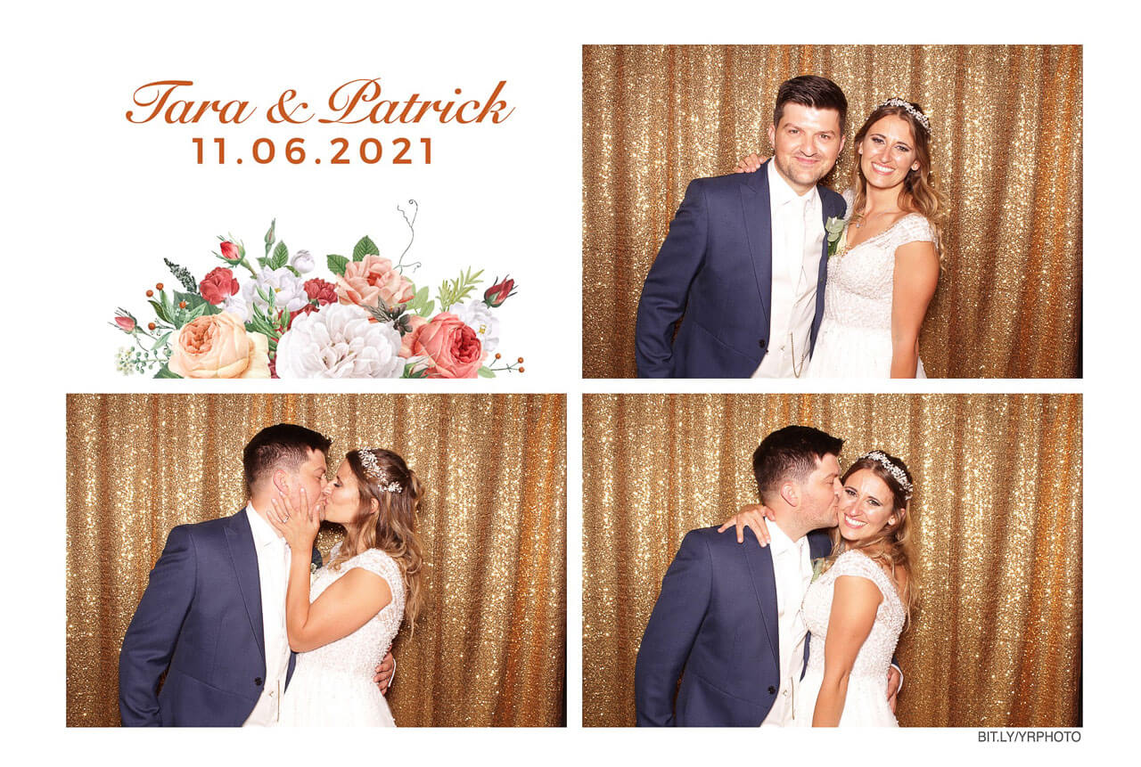 photo booth print of a gorgeous couple