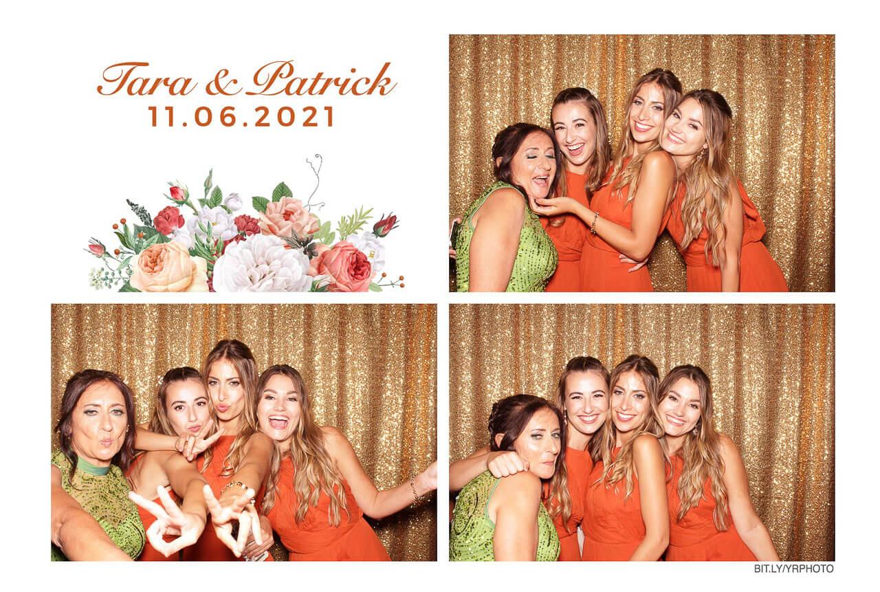 photo booth print of bridesmaids
