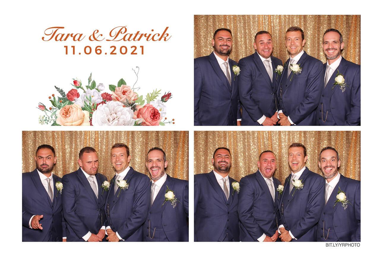 photo booth print of groomsmen
