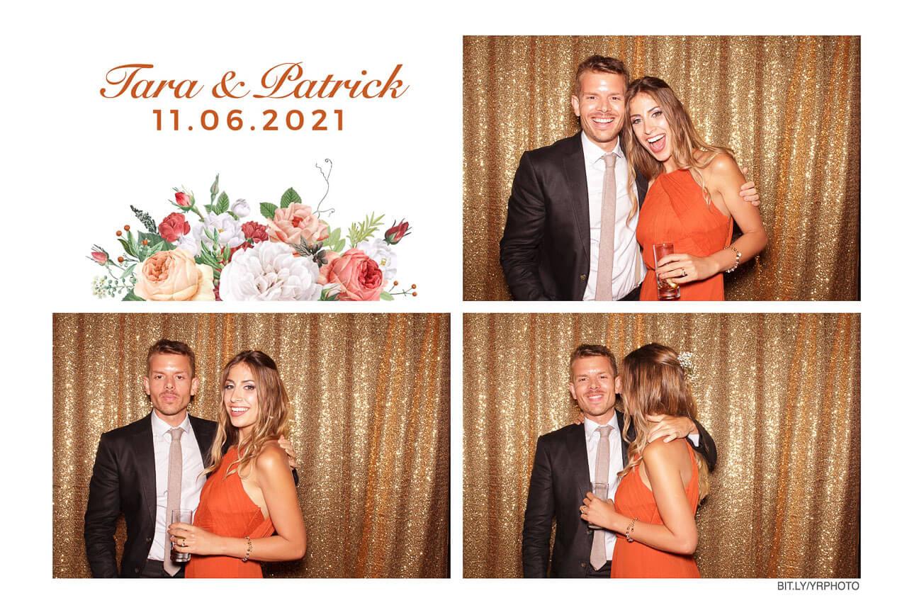 photo booth print of a beautiful couple